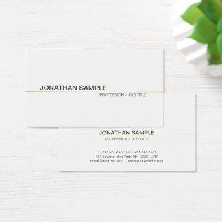 Cartão De Visitas Branco simples profissional moderno liso chique na