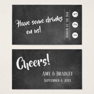 Cartão De Visitas Branco sobre o quadro, bilhetes da bebida 3-Punch