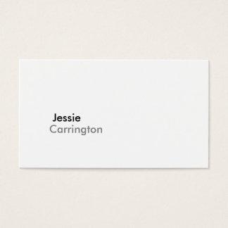 Cartão De Visitas Branco torrado moderno simples 5