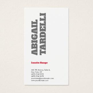 Cartão De Visitas Branco vermelho cinzento moderno corajoso