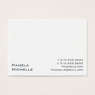 Cartão De Visitas Branco VIII