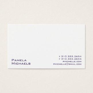 Cartão De Visitas Branco XV