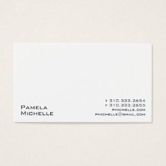 Cartão De Visitas Branco XXIII