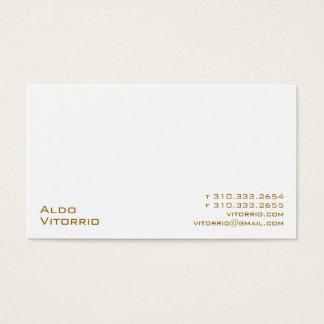 Cartão De Visitas Branco XXV