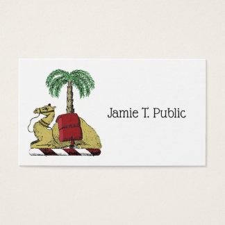 Cartão De Visitas Brasão heráldica da cor da palmeira do camelo