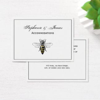 Cartão De Visitas Brasão heráldica formal C da abelha #2 do vintage