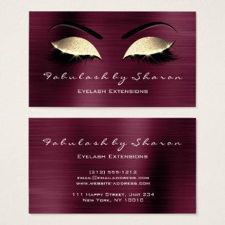Cartão De Visitas Brilho Borgonha de cristal VIP dos chicotes da