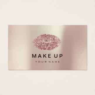 Cartão De Visitas Brilho do feijão vermelho do ouro do rosa do rosa