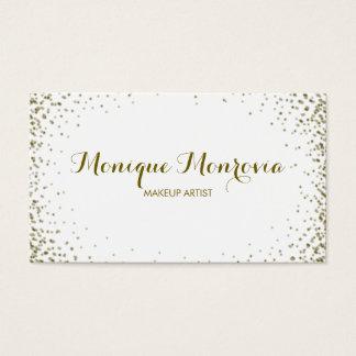 Cartão De Visitas Brilho elegante e moderno dos confetes do ouro