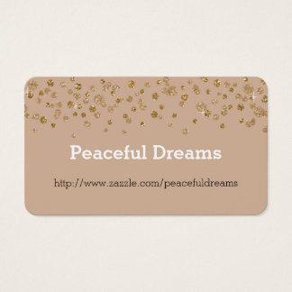 Cartão De Visitas Brilho Glam dos confetes do ouro