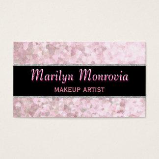 Cartão De Visitas Brilho macio do rosa Pastel