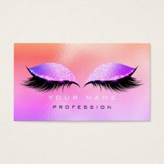 Cartão De Visitas Brilho Ombre cor-de-rosa de vidro Miami dos