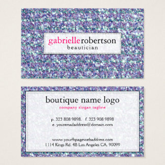 Cartão De Visitas Brilho & Sparkles misturados modernos das cores