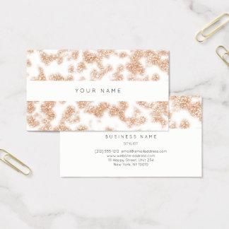 Cartão De Visitas Brilho Sparkly da luz branca do pó do rosa Pastel