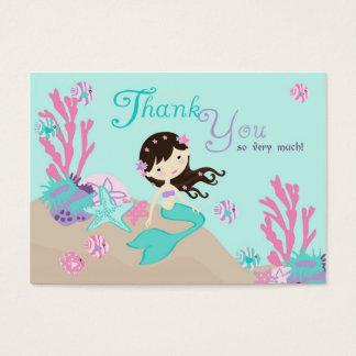 Cartão De Visitas Brunette pequeno do Tag L2 do presente da sereia