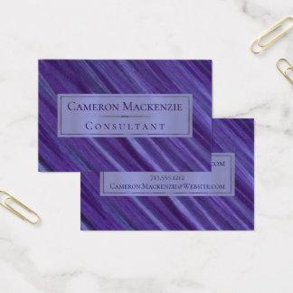 Cartão De Visitas Brushstrokes roxos do Lilac da ameixa da lavanda