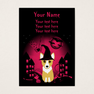 Cartão De Visitas Bruxa do Corgi