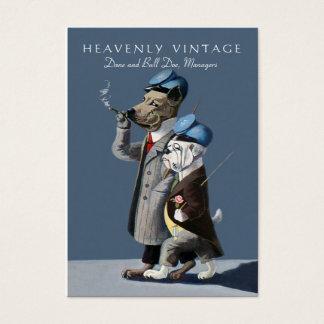 Cartão De Visitas Buldogue e great dane - vintage engraçado