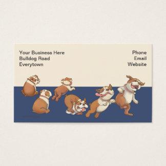 Cartão De Visitas Buldogues da dança