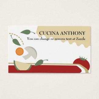 Cartão De Visitas Busin vegetal da comida das lasanhas do