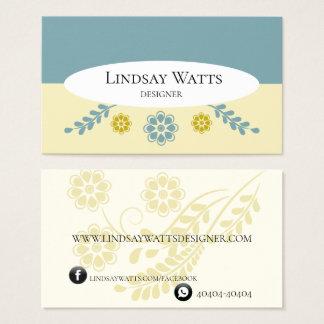 Cartão De Visitas Business Card Flower Clean