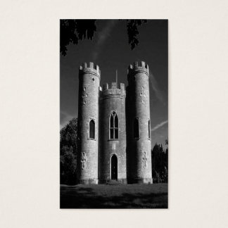 Cartão De Visitas Bw Reino Unido do castelo do castelo de Blaise