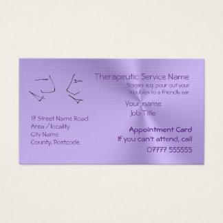 Cartão De Visitas Cabeças de fala, lembretes da nomeação da terapia