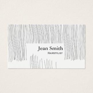 Cartão De Visitas Cabeleireiro bonito/Hairstylist do corte de cabelo