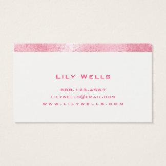 Cartão De Visitas Cabeleireiro cor-de-rosa fabuloso do ★