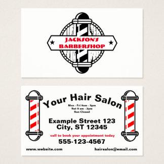 Cartão De Visitas Cabeleireiro do Hairstylist   do barbeiro