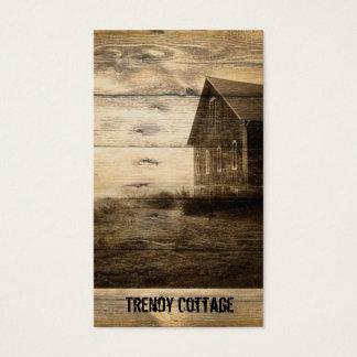 Cartão De Visitas cabine primitiva do país da casa da quinta do país