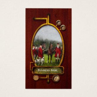 Cartão De Visitas Caçador - a caça de raposa - Registro-ho 1924