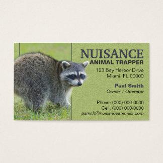Cartão De Visitas Caçador do animal do incômodo