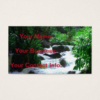 Cartão De Visitas Cachoeira havaiana tropical