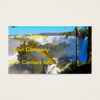 Cartão De Visitas Cachoeira tropical com arco-íris