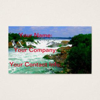 Cartão De Visitas Cachoeira tropical do rio