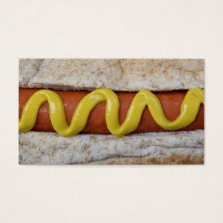 Cartão De Visitas cachorro quente delicioso com fotografia da