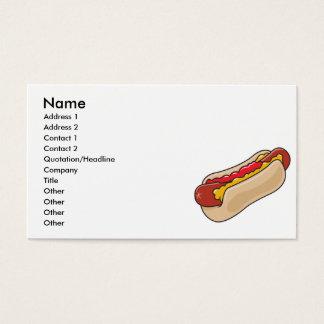 Cartão De Visitas cachorro quente no bolo com o gráfico da ketchup e