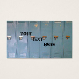 Cartão De Visitas cacifos azuis da escola