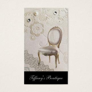 Cartão De Visitas cadeira Rococo Paris do candelabro feminino
