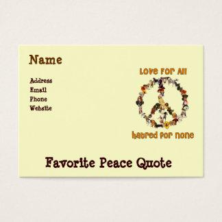 Cartão De Visitas Cães da paz