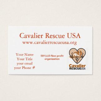 Cartão De Visitas Cães do salvamento dos Cavalier no banco
