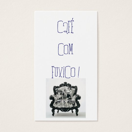 Cartão De Visitas café com fuxico