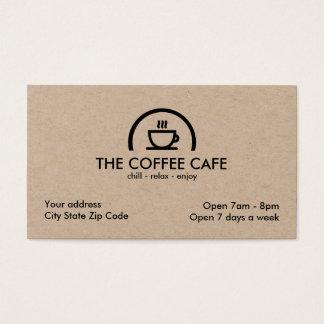 Cartão De Visitas Café da cafetaria