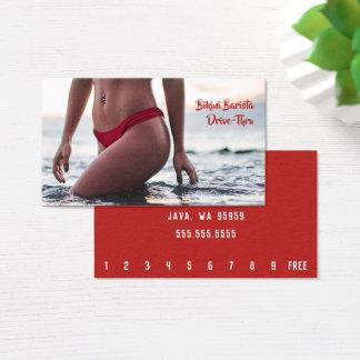 Cartão De Visitas Café de Barista da barriga do biquini horizontal