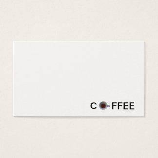 Cartão De Visitas café do café no copo