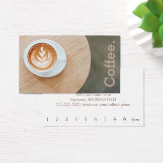 Cartão De Visitas Café do design no café simples da lealdade da mesa