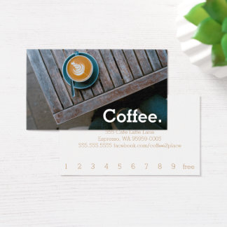 Cartão De Visitas Café simples da lealdade da mesa do quadrado do