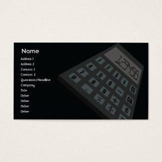 Cartão De Visitas Calculadora - negócio