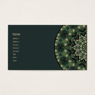 Cartão De Visitas Caleidoscópio da camuflagem do verão